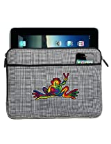 Peace Frogs IPAD SLEEVE Super Cool Tablet Case STYLISH PLAID