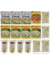 Gud2eat - 3800 gms( Combo of 3 Jowar Flakes, 4 Jowar Idly Mix, 1 Jowar Chakali Mix, 4 Jowar Chiwda, 4 Jowar Rawa)