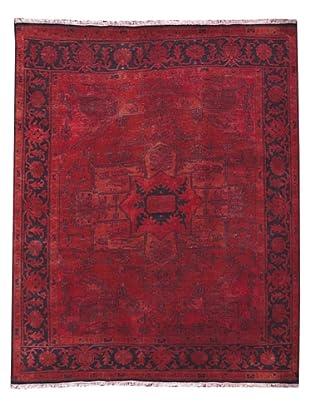 Kavi Handwoven Rugs Tribal Pattern Rug, Red, 6 'x 9'