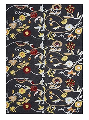 Horizon Alliyah Floral Rug (Black/Multi)