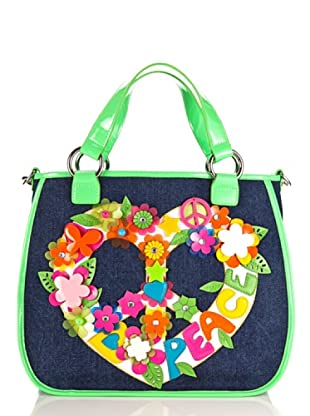 Tua By Braccialini Borsa Love And Peace blu