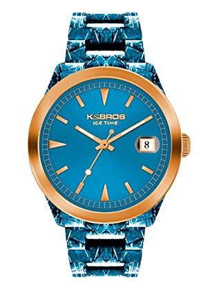 K&BROS 9545-6 / Reloj Unisex con correa de caucho Azul