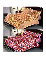 Uber Urben 100% Cotton 144 TC Bedsheet sheet with colour Fastness Queen