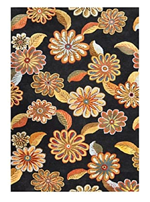 Contemporary Styles Floral Rugs Fashion Design Style