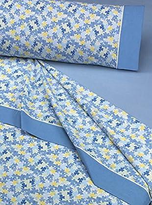 Mantas Mora Juego De Sábanas 3 Piezas (Azul)