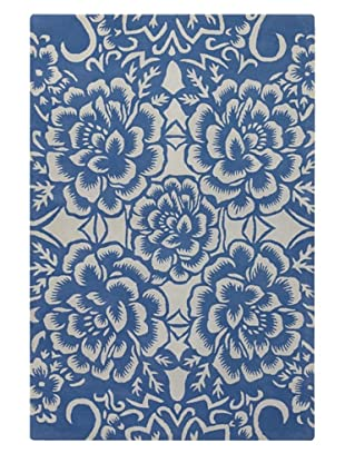 Chandra Counterfeit Studio Hand Tufted Wool Rug (Blue)