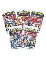 Sunshine Pokemon Trading Card Game- 5 Packs (Random) - Basic Cards (Non Licensed)