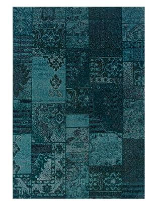 Granville Rugs Vintage Rug (Teal/Grey)