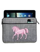 Pink Horse IPAD SLEEVE Horses Tablet Case STYLISH PLAID
