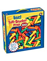 Lauri Toys Tall-Stacker Pegs 100