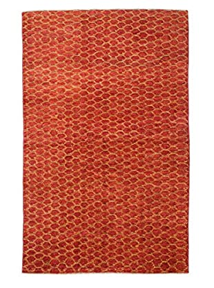 Bashian Rugs Hand Knotted One-of-a-Kind Pak Gabbeh Rug, Rust, 5' x 8'