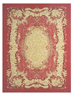 French Accents Severine Aubusson (Red/Gold Multi)