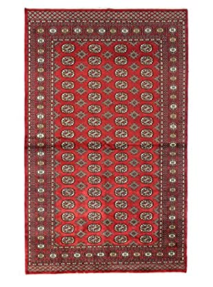 Bashian Rugs One-of-a-Kind Hand Knotted Paki Bukara Rug, Red, 5' 1
