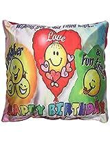 Twisha Happy Birthday Smile Pillow 12 X 12 X 4 Inch