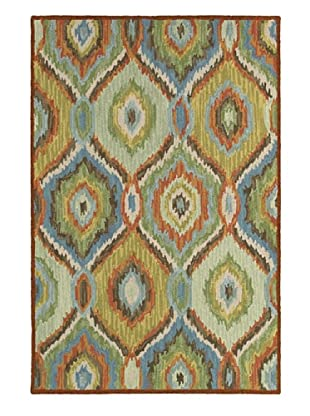 LR Resources Dazzle Rug (Green/Multi)