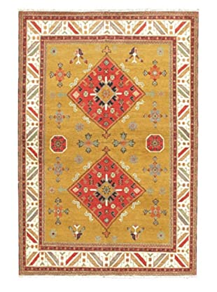 Hand-Knotted Royal Kazak Rug, Yellow, 6' 9