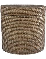 DBCCANE Rattan Laundry Basket (14 cm x 14 cm x 12 cm, Brown)