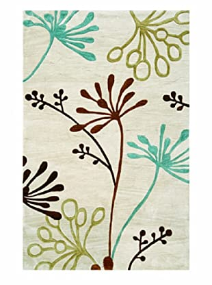 Jaipur Rugs Hand-Tufted Abstract Rug (Ivory/Brown)