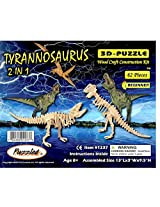 2 in 1 Tyrannosaurus 3D-Puzzle Beginners/Educational Toys and Games/Dinosaur Puzzles