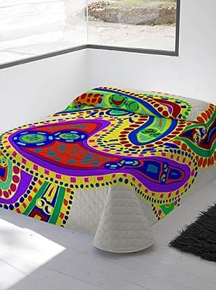 Devota & Lomba Colcha Bouti Amebas (Multicolor)