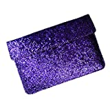 I-KitPit : PU Glitter Sparkling Leather Pouch Case For Alcatel One Touch Tab 7 Dual Core (PURPLE)
