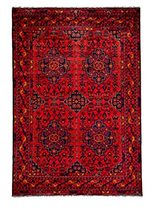 Darya Rugs Traditional Oriental Rug, Red, 6' 6