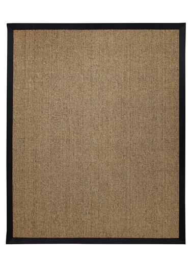 Natural Rugs Jute Boucle Rug with Tapestry Border (Natural/Black)