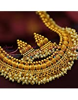 Broad Antique Necklace Grand Look Party Wear Designer Jewellery