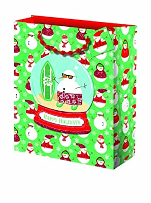 Punch Studio Set of 5 Molly & Rex Gift Bags (Snowman)