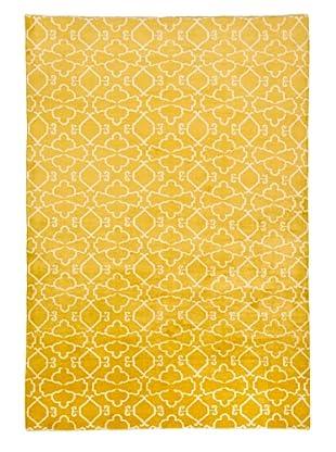 Azra Imports Vogue Rug, Lemon/Ivory, 5' 5