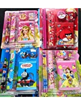 Birthday Party Return Gifts (Rs 80 Per Pack) - Pack of 24 Mix Stationery Kit Set for Kids - 12 Blue, 12 Pink