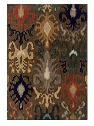 Granville Rugs Morocco Rug (Grey/Beige/Gold/Navy/Green)