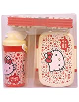 Hello Kitty Water Bottle,Lunch Box And Pencil Box Set