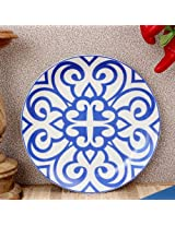 Ikat Urmi Dinner Plate Blue from Vanras