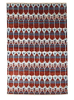 Darya Rugs Ikat Oriental Rug, Red, 6' 2