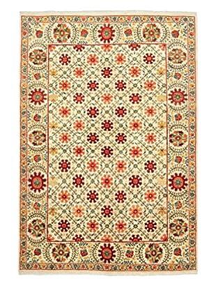 Darya Rugs Suzani Oriental Rug, Ivory/Orange, 6' 2