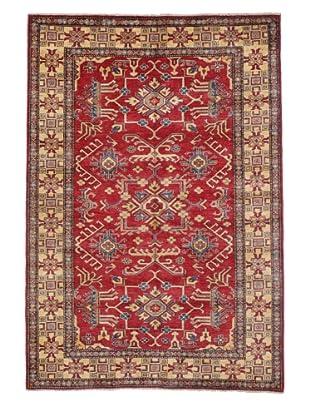 Rug Republic One Of A Kind Pakistani Kazak Rug, Red/Blue/Antique Ivory/Multi, 5' x 7' 3