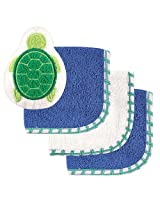 Luvable Friends 3 Pack Washcloth With Bath Toy Blue