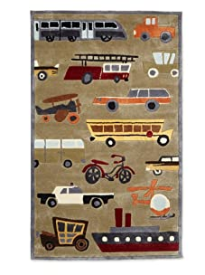 Lil Mo Traffic Rug (Concrete)