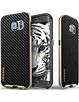 Galaxy S6 Edge case, Caseology [Envoy Series] [Carbon Fiber Black] Premium Leather Bumper Cover [Leather Textured] Samsung Galaxy S6 Edge case