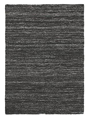 Hand Woven Silky Allure Modern Flatweave Kilim, Black, 4' 8
