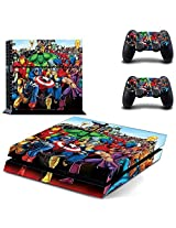Golden Deal Ps4 Console And Dual Shock 4 Controller Skin Set Super Hero Play Station 4 Vinyl