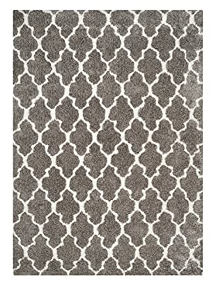 Safavieh Barcelona Shag Rug, Silver/White, 8' x 10'