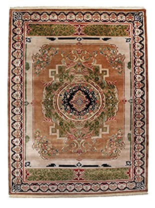 F.J. Kashanian One-of-a-Kind Hand-Knotted Savonnerie Rug, Taupe/Black, 9' x 12'