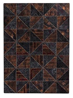 MAT Vintage Tile Rug (Black/Brown)