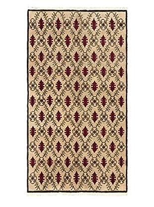 eCarpet Gallery One-of-a-Kind Hand-Knotted Keisari Rug, Cream/Khaki, 5' x 9' 3