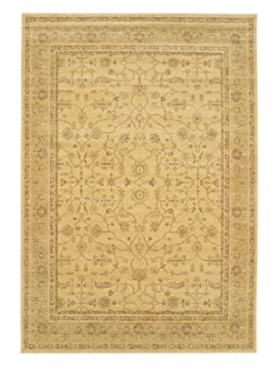 Golden Lotus Transitional Rug, Beige, 6' 7