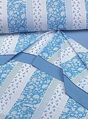 Mantas Mora Juego De Sábanas 4 Piezas (Azul)
