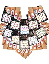 Nail Art Water Slide Tattoo Stickers Decals Flowers 10 Pack