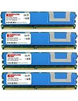 Komputerbay 16GB (4x 4GB) DDR2 PC2-6400F 800MHz ECC Fully Buffered FB-DIMM (240 PIN) 16 GB w/ Heatspreaders